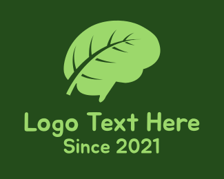 Leaf - Brain Leaf logo design