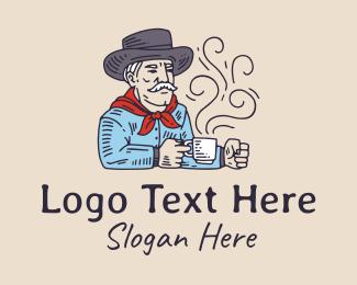 Man - Old Man Farmer Coffee logo design