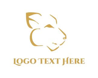 Tiger - Abstract Feline logo design