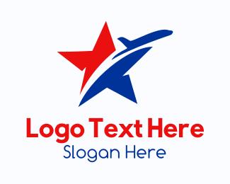 Transport - Star Transport Airplane logo design