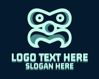 Bot - Moustache Face logo design