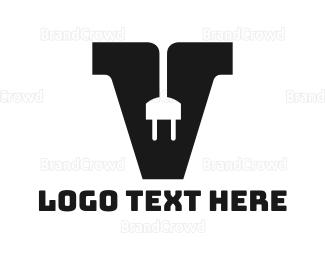 Electrical Energy - Electrical Letter V logo design