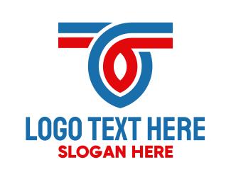 Curve - Racing Curve Letter T logo design