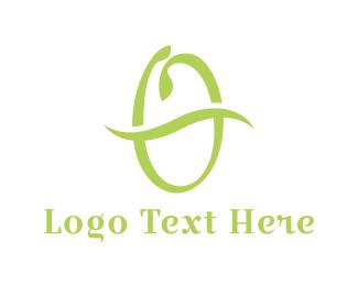 Swoosh - Green Swoosh O logo design