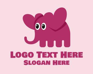 Hearts - Cute Elephant Hearts  logo design