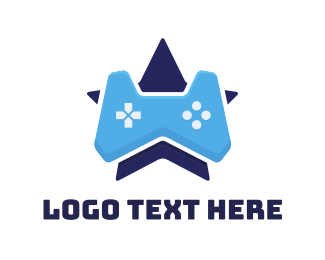 E Games - Blue Star Controller logo design