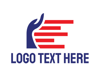Support - American Hand logo design