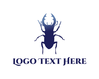 Pest - Blue Beetle  logo design