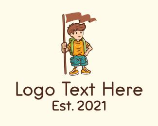 Scout - Summer Camp Boy  logo design