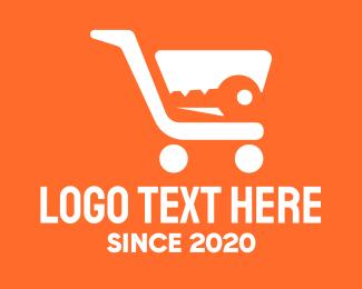 Secure - Secure Key Shopping Cart logo design