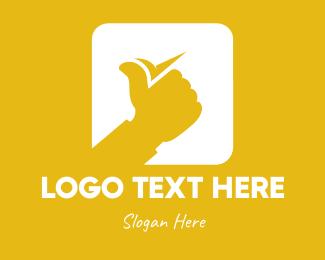 Thumb - Thumbs Up Approve App logo design