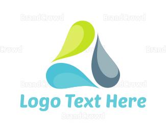 Trio - Drop Triangle logo design
