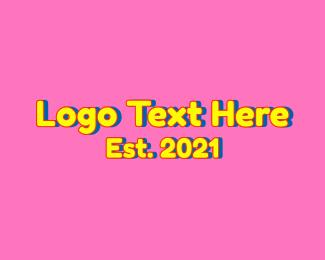 Preschool - Cartoon Preschool Wordmark logo design