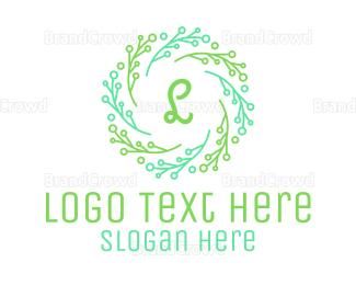 Agricultural - Stroke Ornamental Lettermark logo design