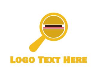 Detective - Burger Detective logo design