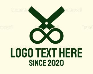 Salon - Infinity Scissors logo design