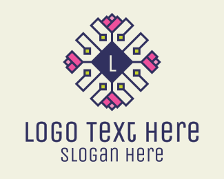 Crochet - Embroidered Floral Lettermark logo design