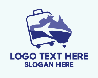 Boomerang - Australian Travel Aviation logo design
