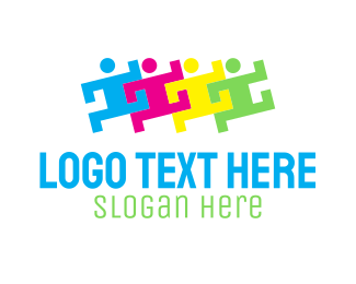 Team - People Group Organization logo design
