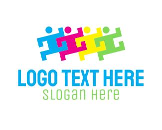 School - People Group Organization logo design