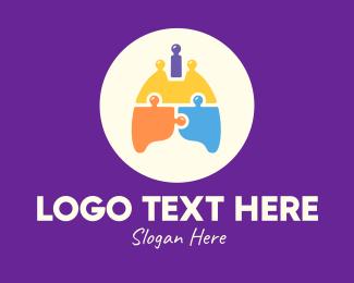 Jigsaw Puzzle - Multicolor Lung Puzzle logo design