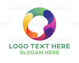 Artist - Abstract Chromatic Circle logo design