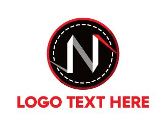 Folding - White Letter N logo design