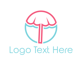 Tent - Beach Umbrella logo design