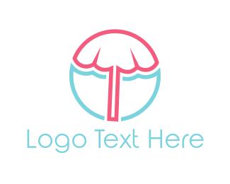 Summer - Beach Umbrella logo design