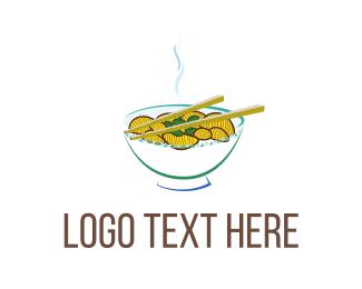 Noodle - Asian Soup logo design