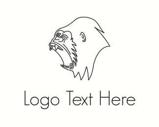 Black - Black Gorilla  logo design