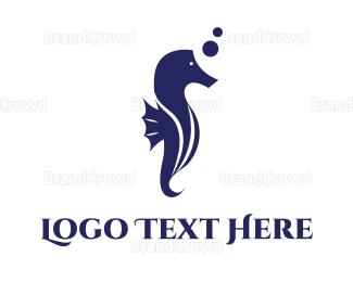 Beachwear - Aquatic Seahorse logo design