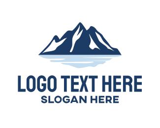 Glacier - Blue Mountain logo design