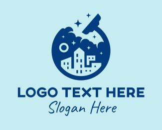 Deep Clean - Clean City Office Cleaner logo design