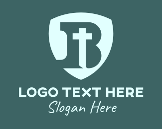 Christian - Christian Letter B Shield Crucifix logo design