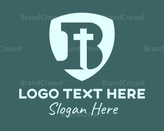 Christian - Christian B Shield logo design