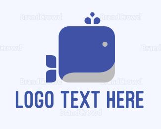 Memorable - Square Whale logo design