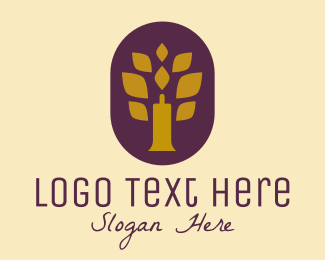 Tree - Candle Tree logo design