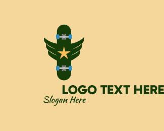 Military - Military Skateboard logo design