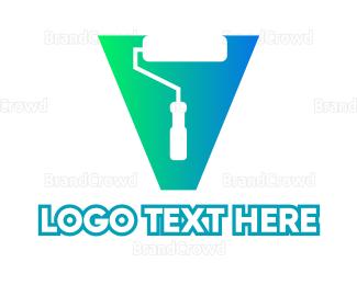 Cone - Geometric Painter logo design