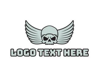 Jet Fighter - Esports Gaming Skull Angel logo design