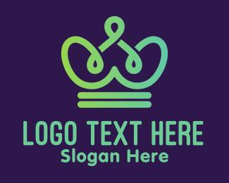 Kids Accessories - Cute Green Crown logo design