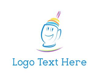 Cream - Happy Shake logo design
