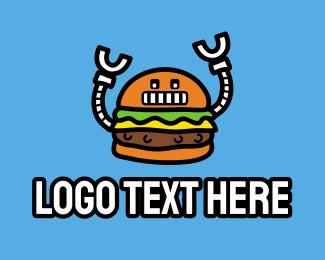 """Robot Burger Mascot"" by brandcrowd"
