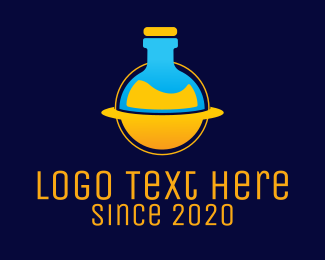 Space - Space Lab Flask logo design