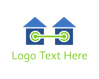 Link - Homes Connected logo design