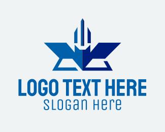 Geometric Airline Insignia  Logo
