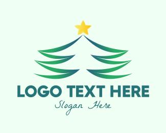 Xmas - Star Christmas Tree logo design