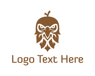 White And Brown - Brown Eagle logo design