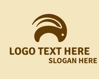 Horn - Brown Goat Horns  logo design